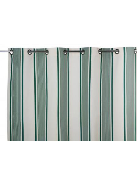 Rideau Maïté Vert rideaux, linge de maison basque