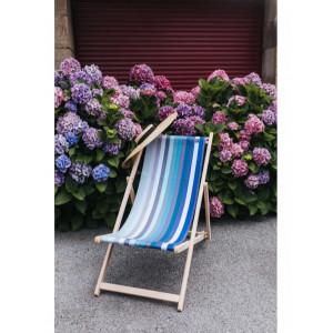 Transat Alcyons en tissu basque chaise longue chilienne basque