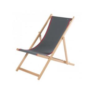 Transat Uni Ardoise en tissu basque chaise longue chilienne basque