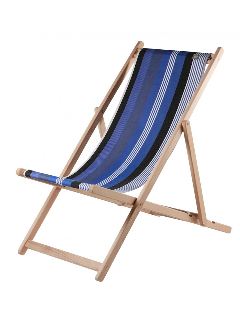 Transat Beaurivage en tissu basque chaise longue chilienne basque