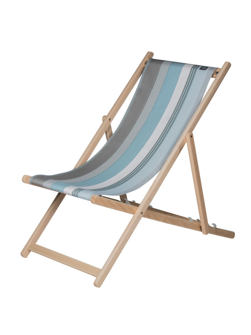 Deckchair Belle-île en Mer basque linen deckchairs