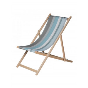 Transat Belle-île en Mer en tissu basque chaise longue chilienne basque