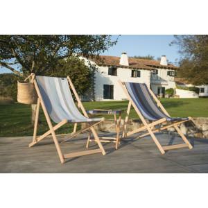 Deckchair Belle-île en Mer basque linen deckchairs