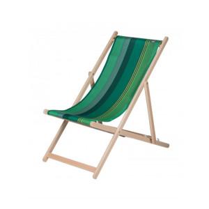 Transat Chiberta en tissu basque chaise longue chilienne basque