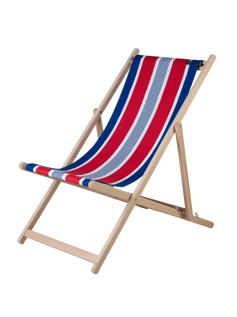 Transat Elysée en tissu basque chaise longue chilienne basque