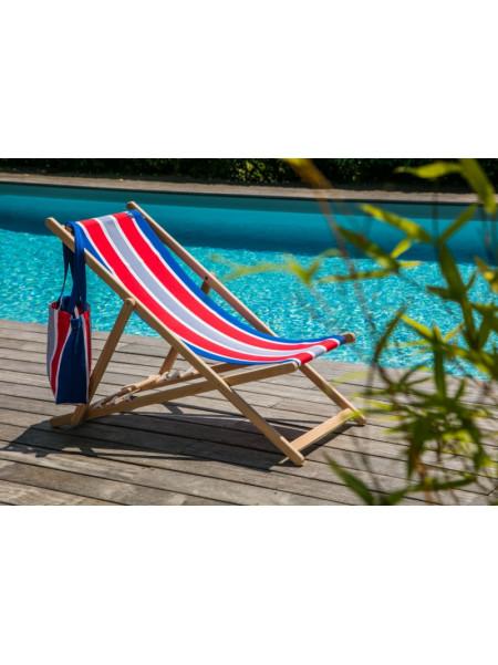 Deckchair Elysée basque linen deckchairs