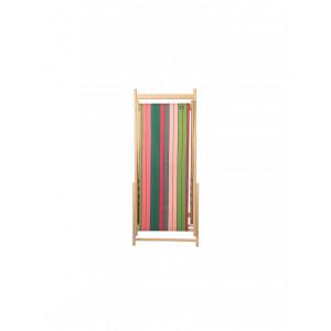 Transat Eugénie Rose-Vert en tissu basque chaise longue chilienne basque