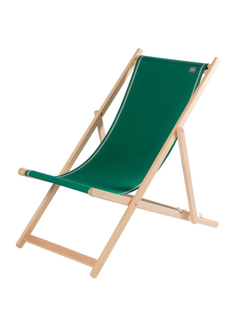Transat Uni Forêt en tissu basque chaise longue chilienne basque