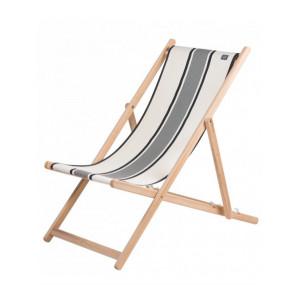 Deckchair Maïté Encre- basque linen deckchairs