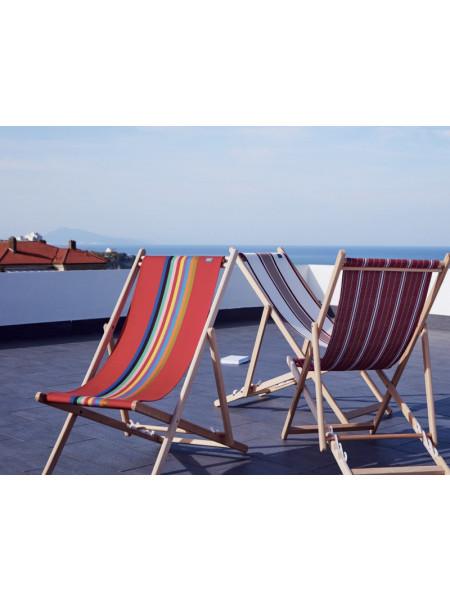 Transat Marbella en tissu basque chaise longue chilienne basque