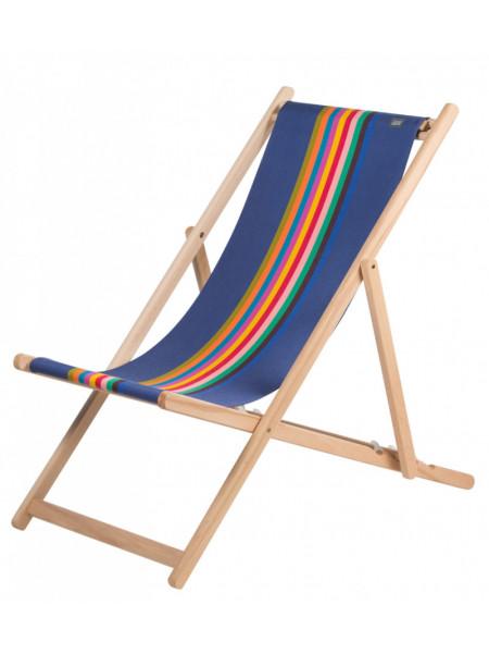 Transat Milady en tissu basque chaise longue chilienne basque