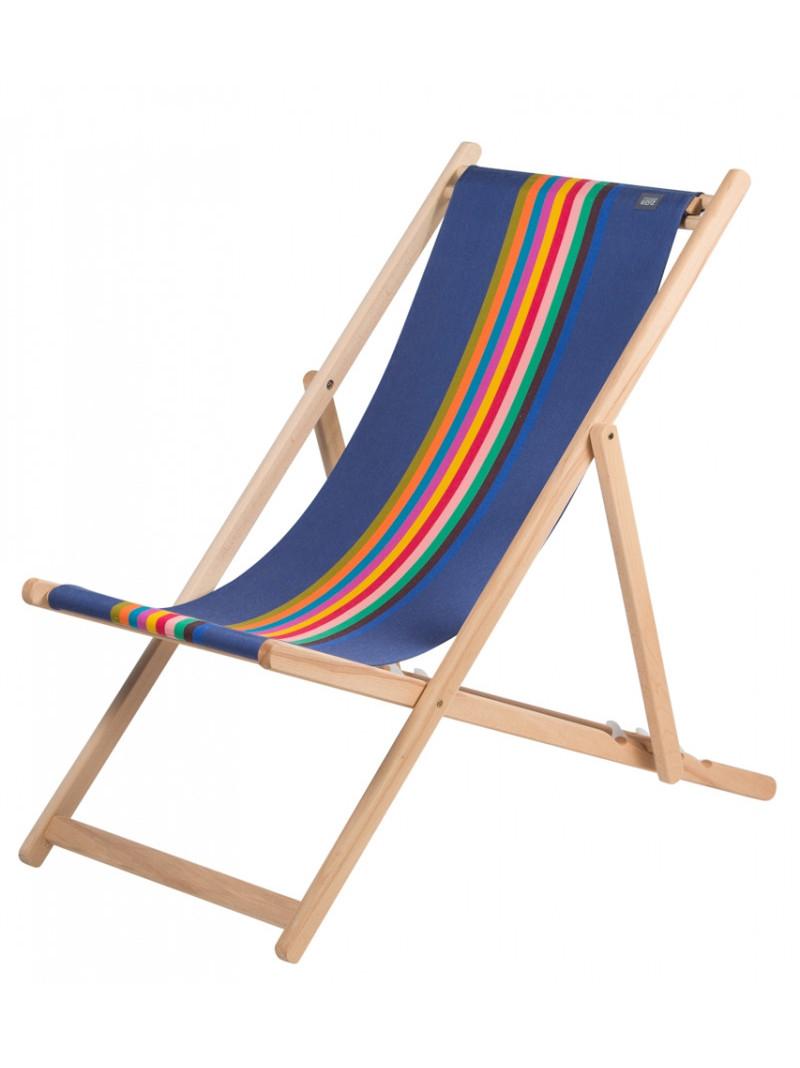 Deckchair Milady basque linen deckchairs