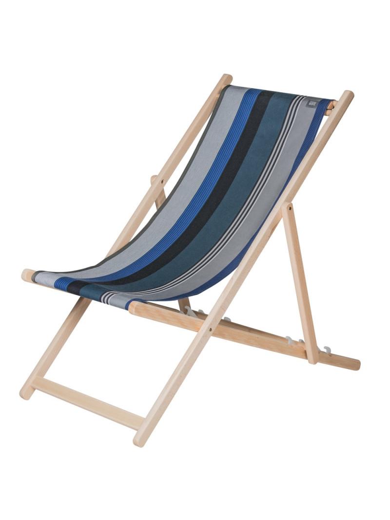 Transat Miramar en tissu basque chaise longue chilienne basque