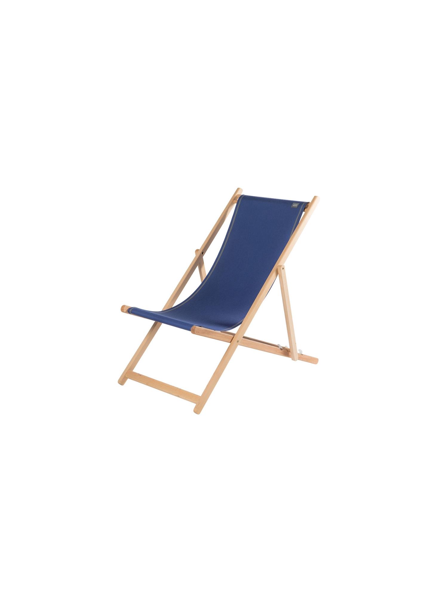 Transat Uni Outre-Mer en tissu basque chaise longue chilienne basque