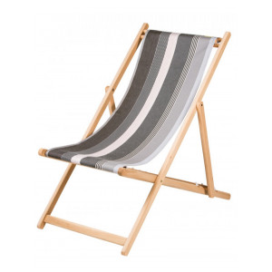 Transat Rhune en tissu basque chaise longue chilienne basque