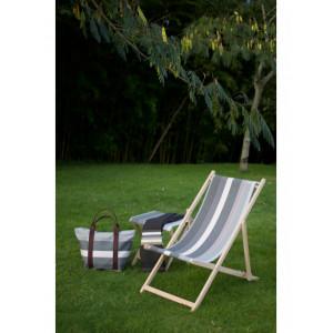Deckchair Rhune basque linen deckchairs
