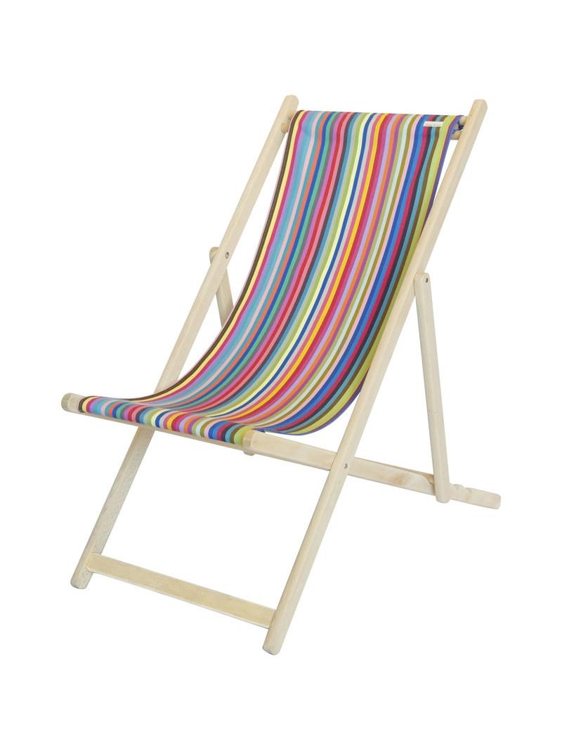 Transat Salvador en tissu basque chaise longue chilienne basque