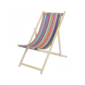 Deckchair Salvador basque linen deckchairs