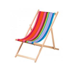 Transat Surfing en tissu basque chaise longue chilienne basque
