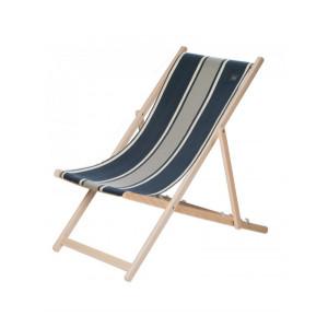 Transat Yvonne Denim en tissu basque chaise longue chilienne basque