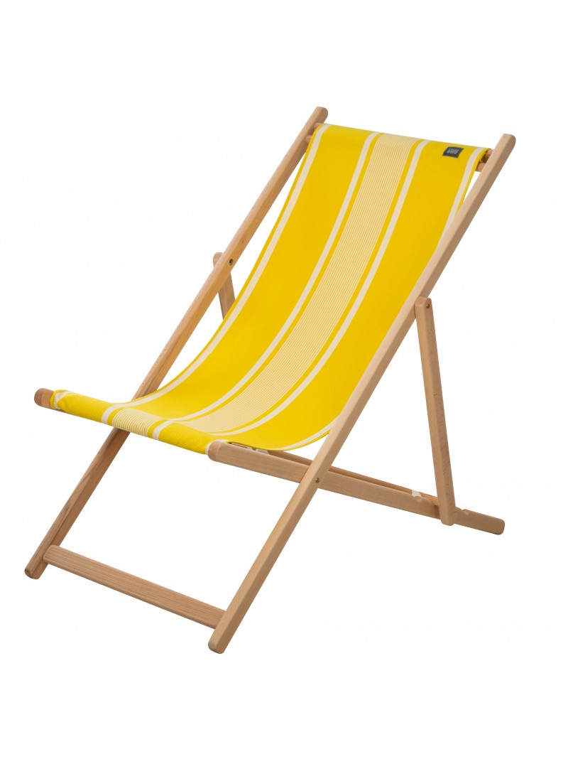 Deckchair Yvonne Jaune basque linen deckchairs