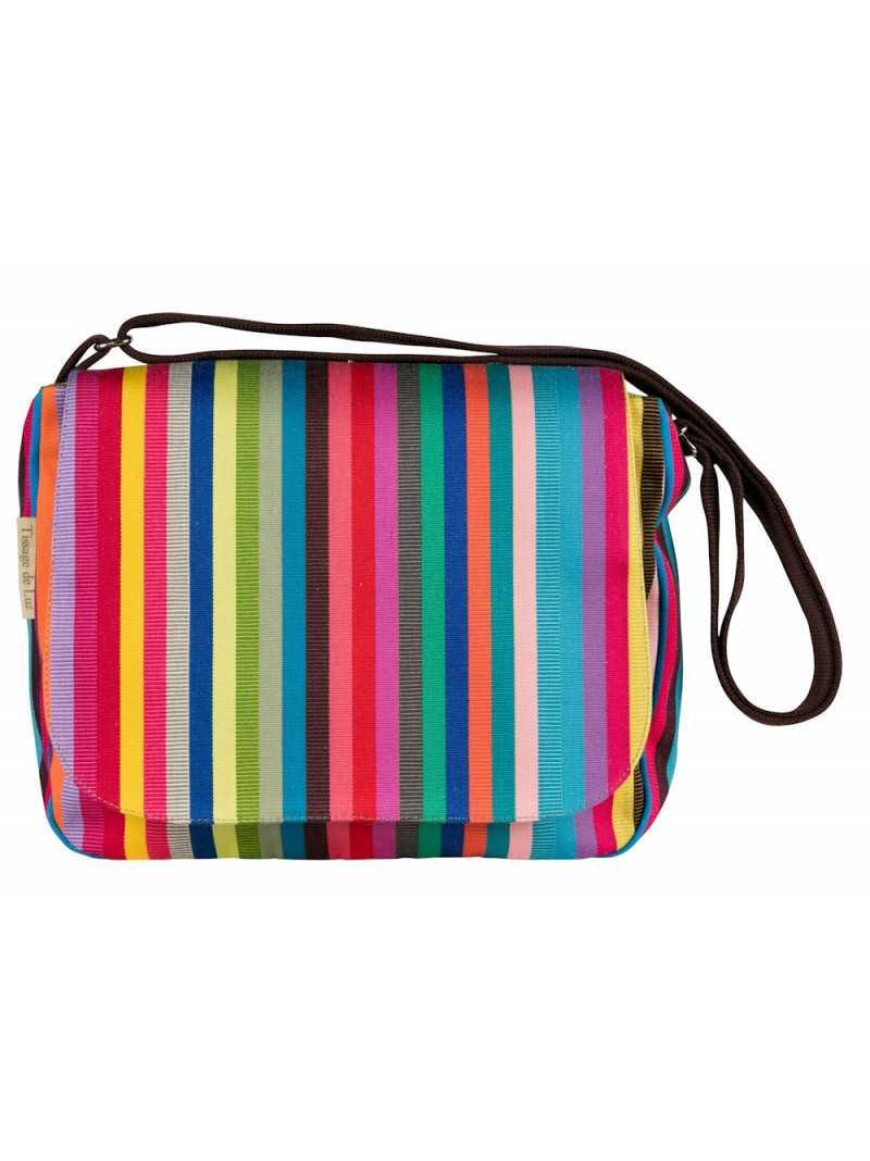Besace Salvador shoulder bag, basque linen