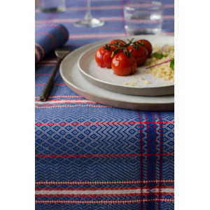 Cotton and Linen by the meter Felix Bleu basque linen cotton