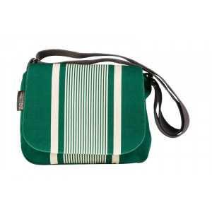Besace Yvonne Vert shoulder bag, basque linen