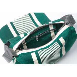 Besace Yvonne Vert sac besace en tissu basque