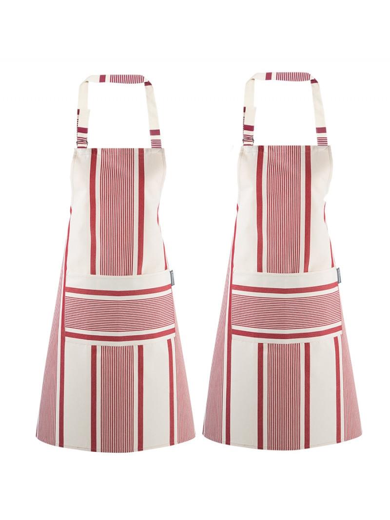 Aprons Maïté Rouge- basque kitchen linen