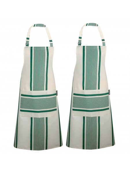 Aprons Maïté Vert basque kitchen linen