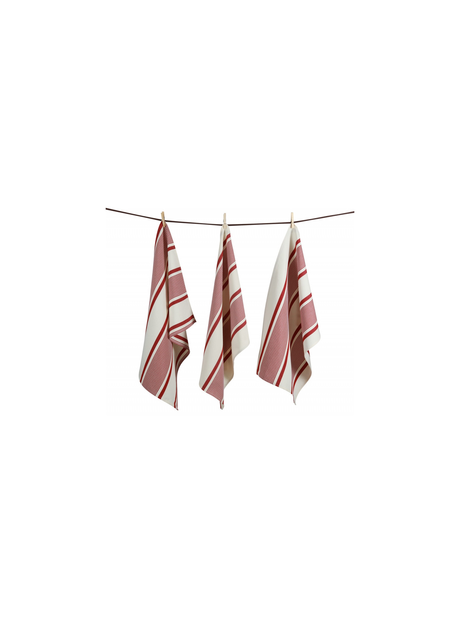 Tea towels Maïté Rouge  basque kitchen linen
