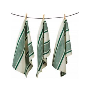 Tea towels Maïté Vert basque kitchen linen