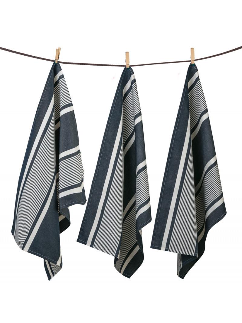 Tea towels Yvonne Denim basque kitchen linen