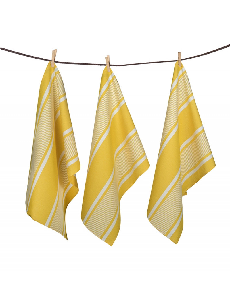 Tea towels Yvonne Jaune basque kitchen linen