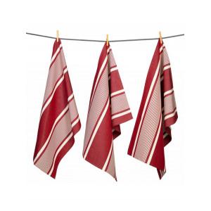 Tea towels Yvonne Rouge basque kitchen linen