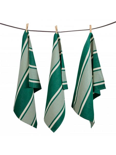 Tea towels Yvonne Vert basque kitchen linen
