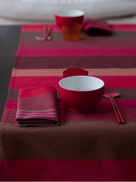 Runner Ottoman Grenade tableware basque linen