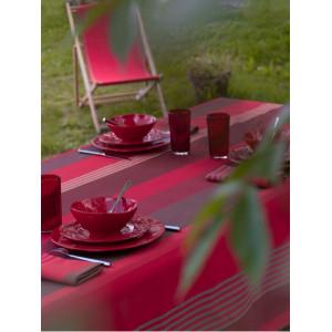 Coated tablecloth Ottoman Grenade tableware basque linen