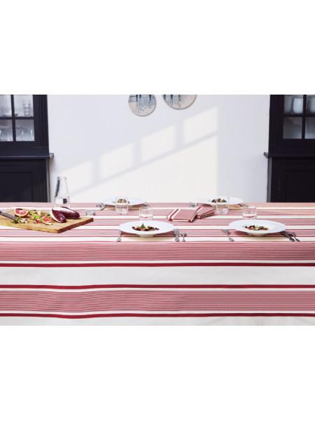 Coated tablecloth Maïté Rouge tableware basque linen